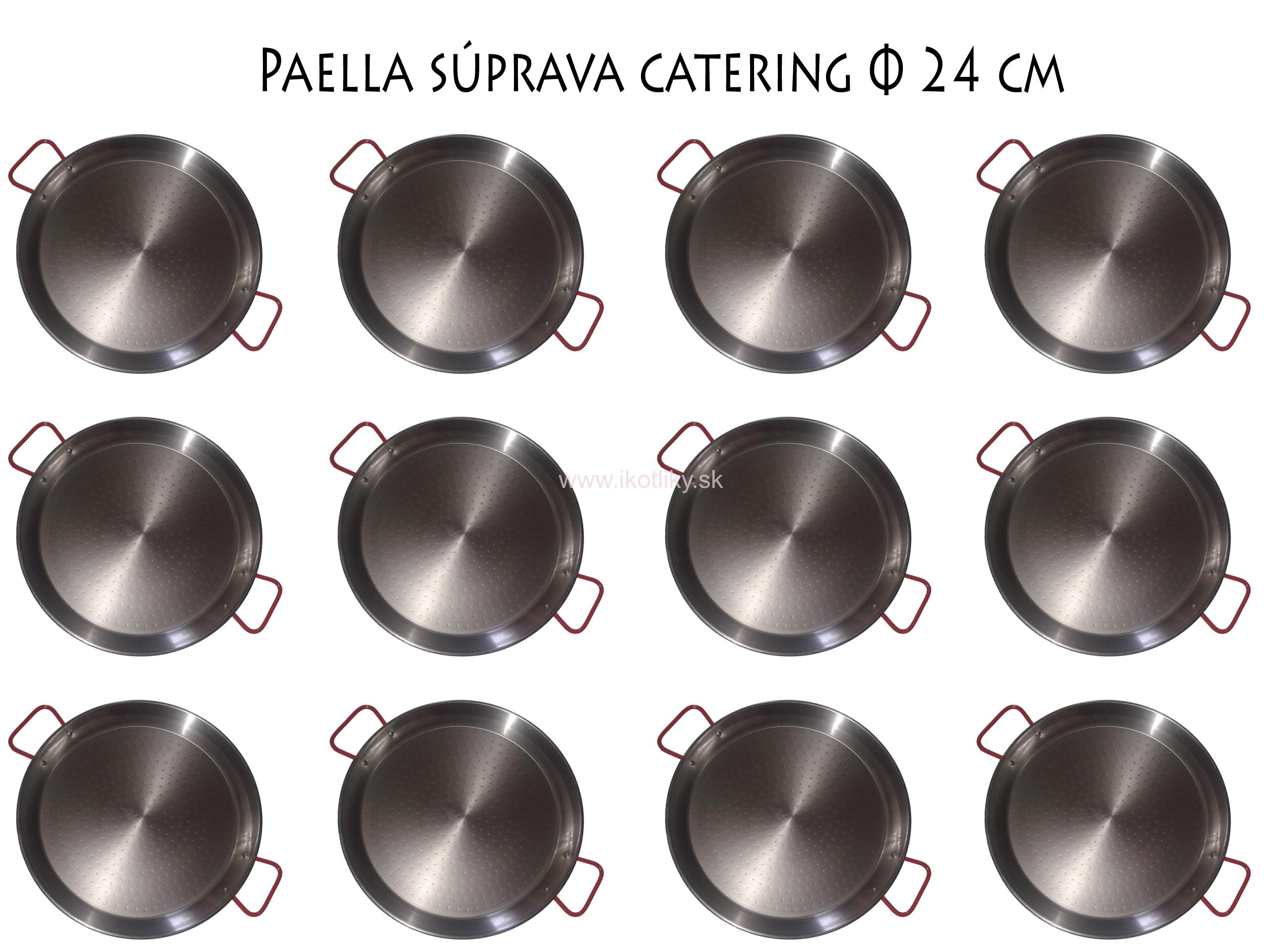 Paella catering set medium 12ks